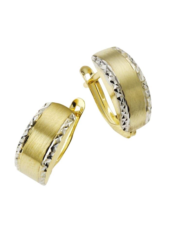Celesta Creolen 333/- Gold 1,8cm Diamantiert 333/- Gold, gelb