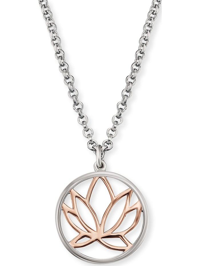 Engelsrufer Engelsrufer Damen-Kette Lotus 925er Silber rhodiniert, silber