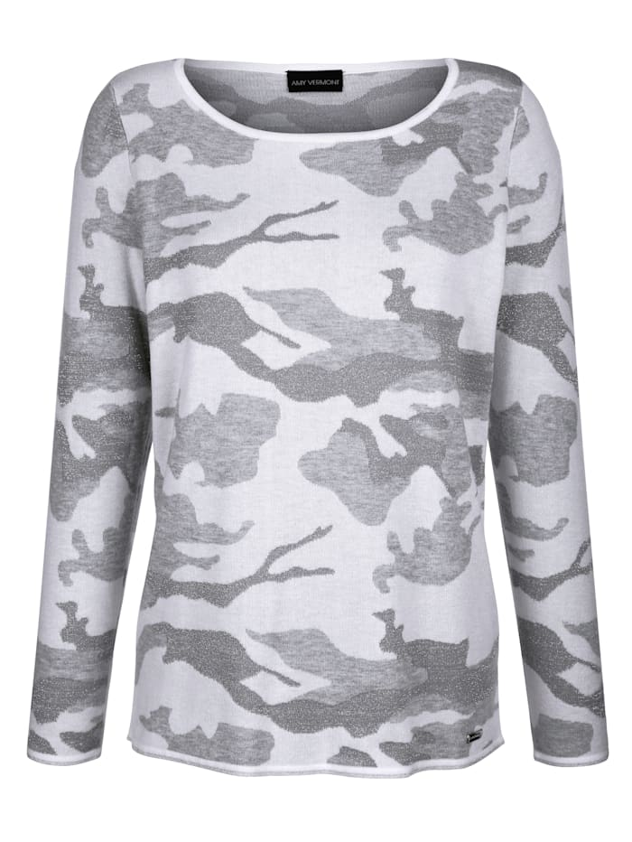 Pullover in Jacquard in Camouflage Optik