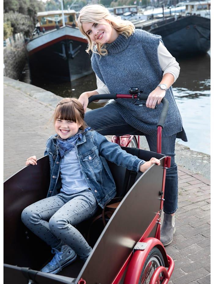 Janet & Joyce Débardeur en maille, Bleu