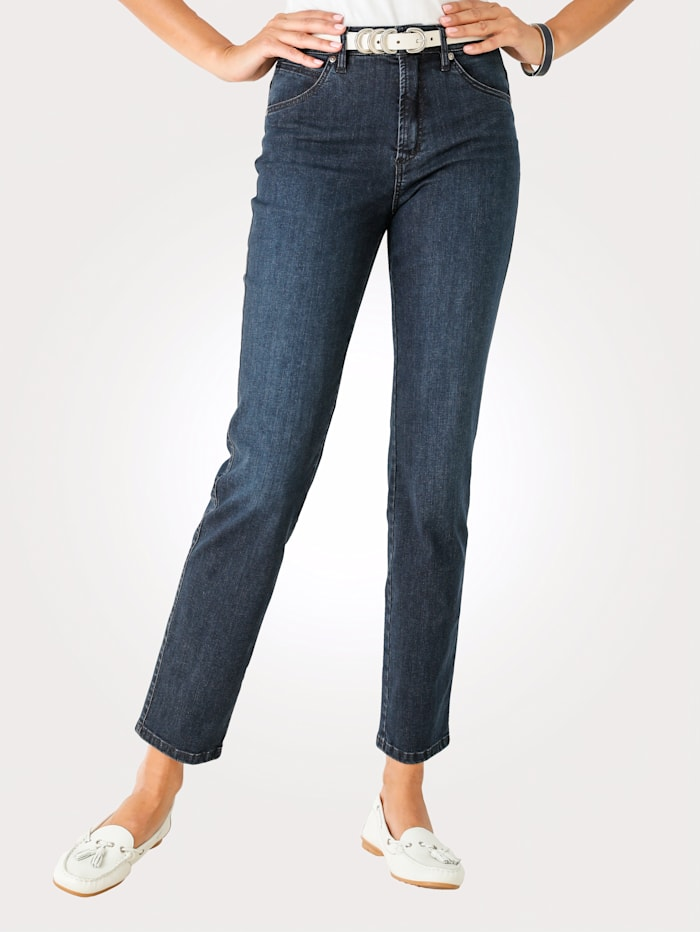 Toni Jeans met subtiel washed effect, Blauw