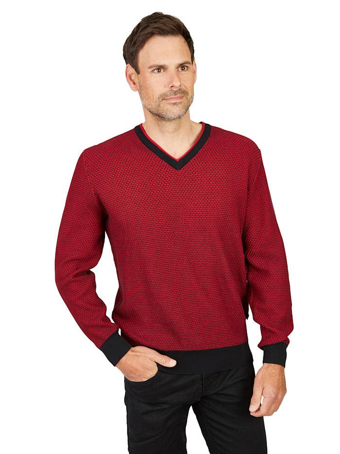 Hajo V-Pullover, schwarz
