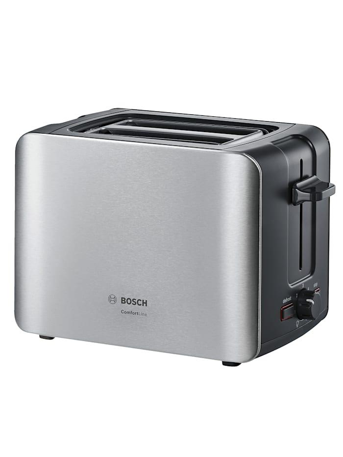 Bosch Bosch compacte broodrooster TAT6A913, roestvrij staalkleur/Zwart