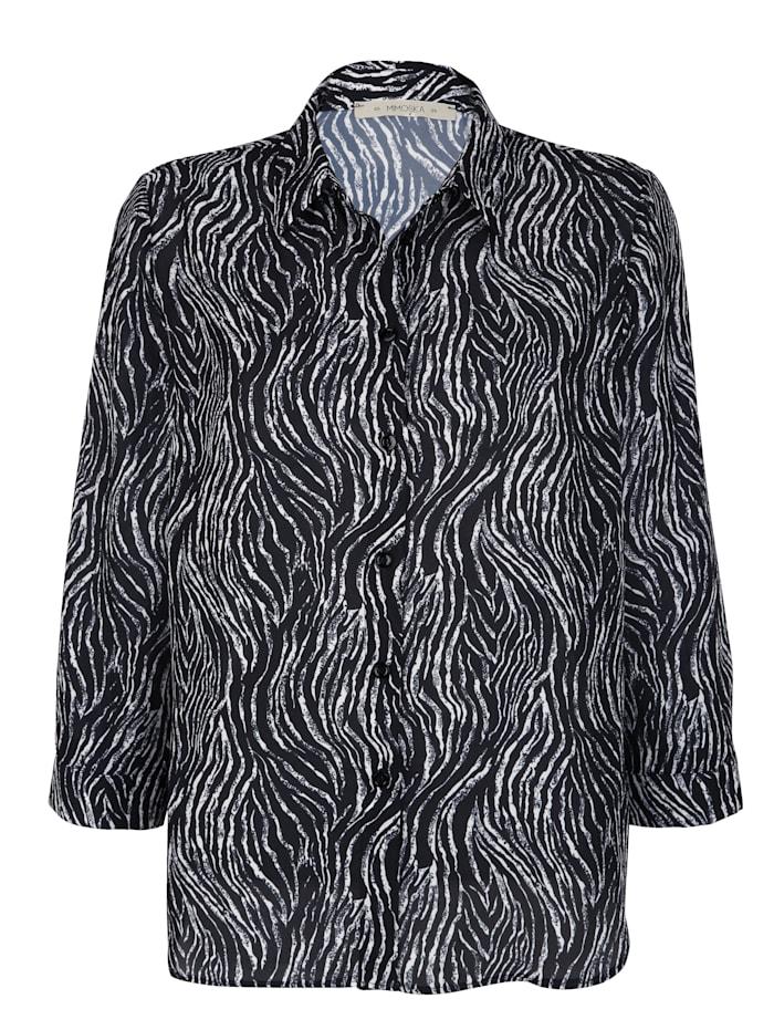 Hemdbluse mit Zebra-Druck