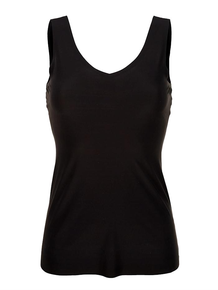 Maidenform Wende-Top mit leichtem Shape-Effekt, schwarz