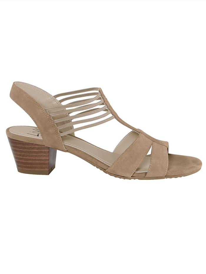 Sandale in attraktiver Riemchenführung