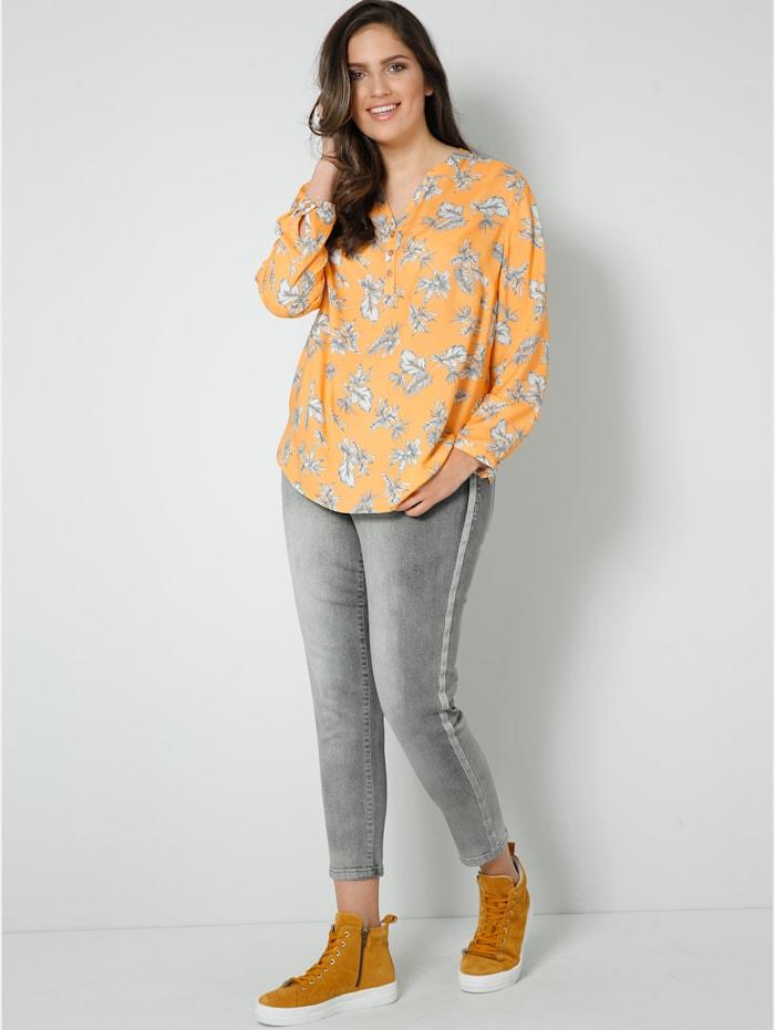 Tunika-Bluse mit floralem Druck