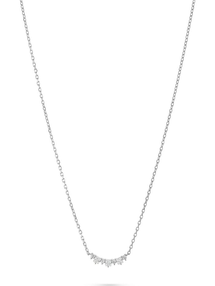 FAVS. FAVS Damen-Kette 925er Silber 10 Zirkonia, silber