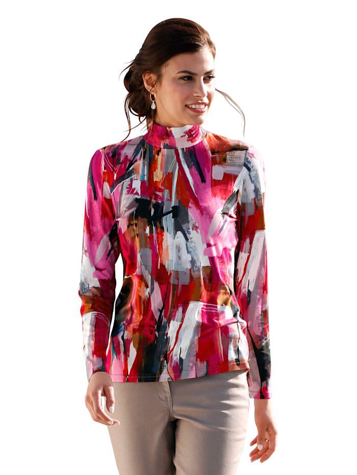 AMY VERMONT Shirt met opstaande kraag, Multicolor
