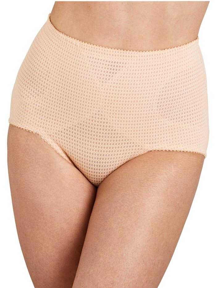 Miss Mary Panty av pustende materiale med bomull, Nude