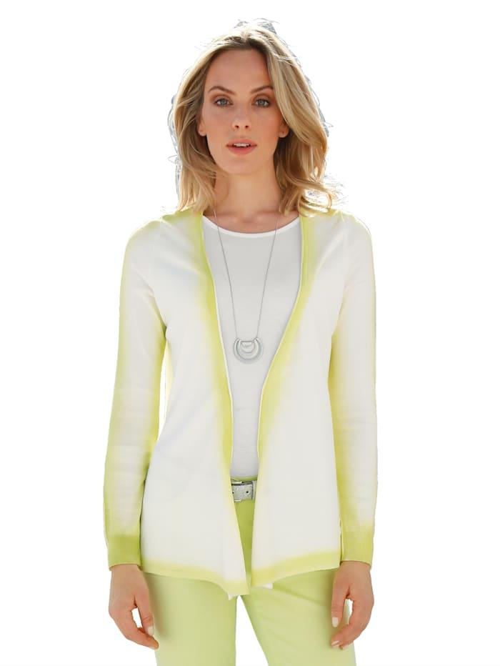 AMY VERMONT Vest Fijngebreid en met print, Offwhite/Neongroen