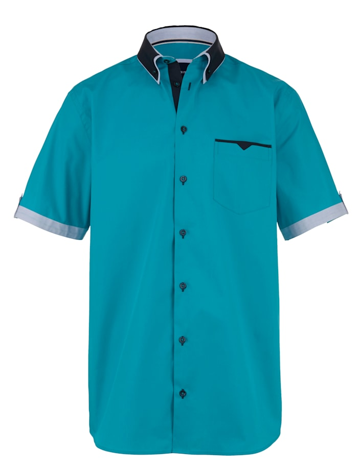 BABISTA Overhemd met modieuze accenten, Turquoise