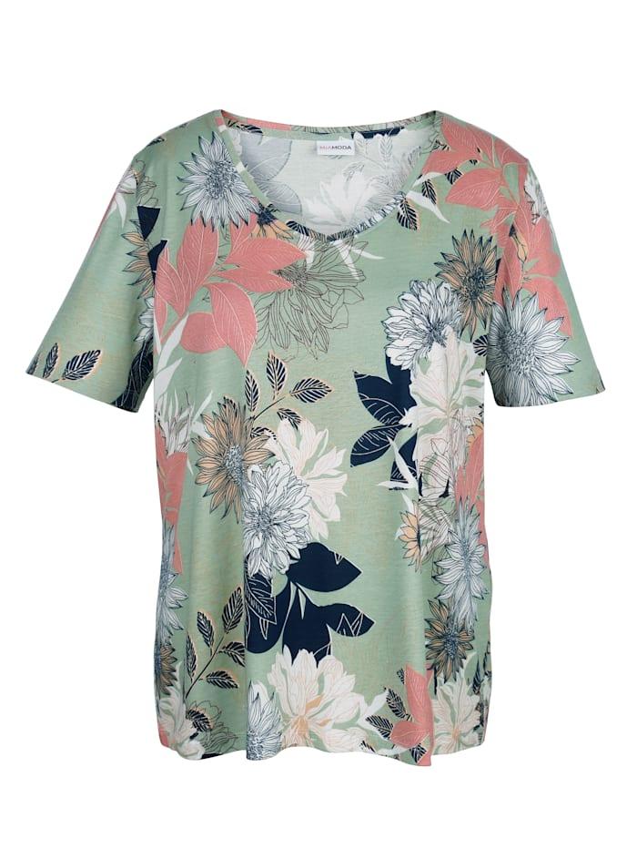 T-shirt à imprimé fleuri