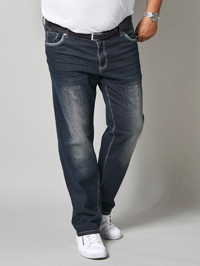 Men Plus Jeans met comfortabele stretchband, Donkerblauw
