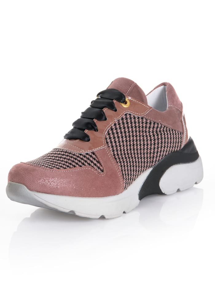 Alba Moda Sneaker mit Pepita-Einsatz, Rosé