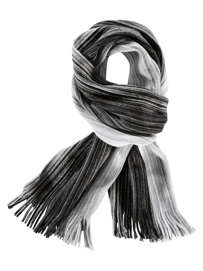BABISTA Sjaal met harmonieus kleurverloop, zwart/wit