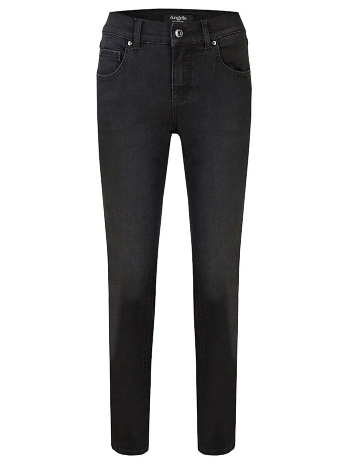Angels Jeans 'Skinny Glam Galon' mit Nieten, black used buffi