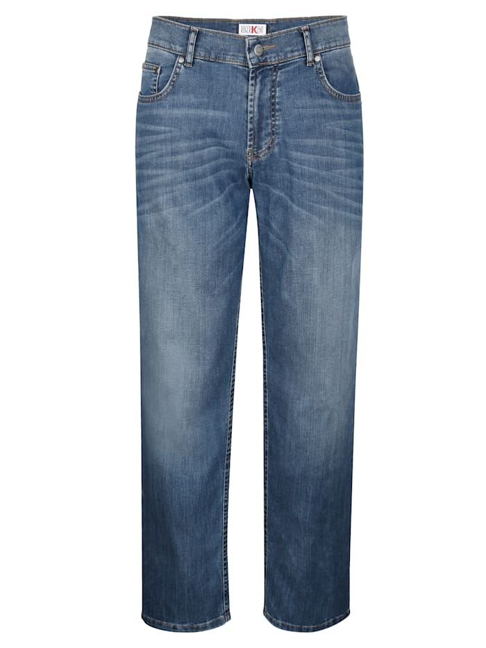 Roger Kent 5-Pocket Jeans mit modischer Waschung, Blue stone