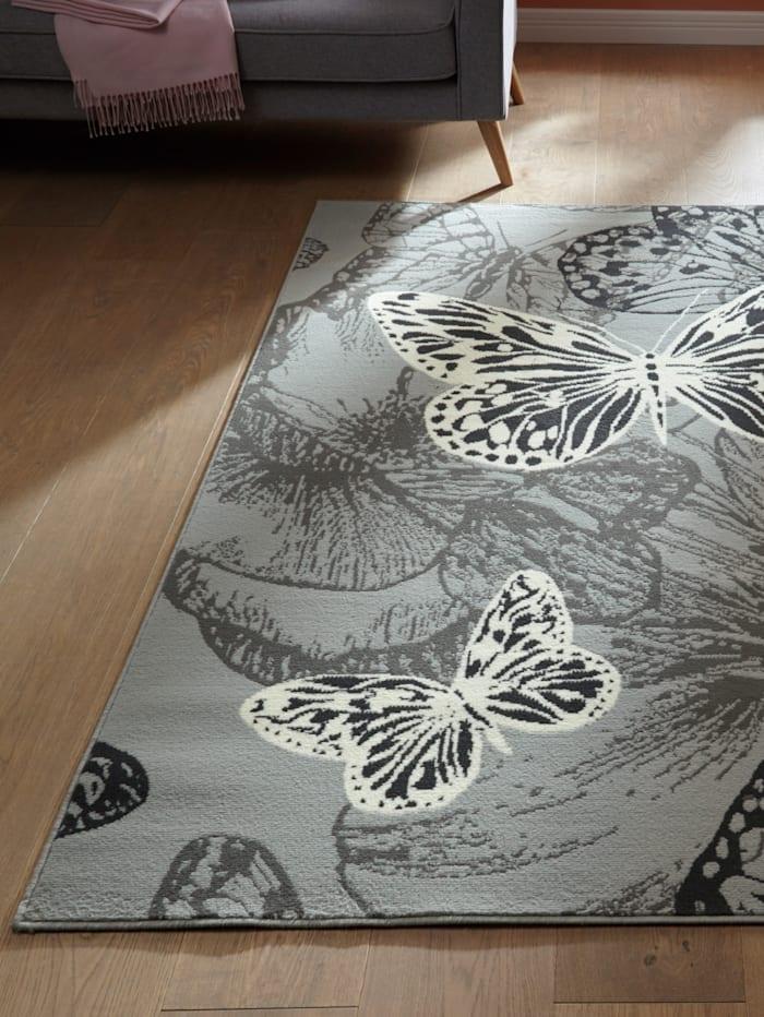 Webschatz Webteppich 'Papillon', Grau
