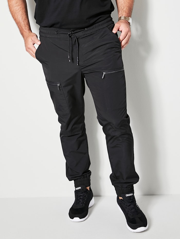 Men Plus Hose in Schlupfform, Schwarz