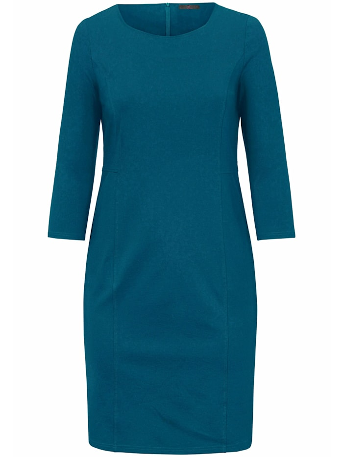 Emilia Lay Jersey-Kleid knitterarm, petrol