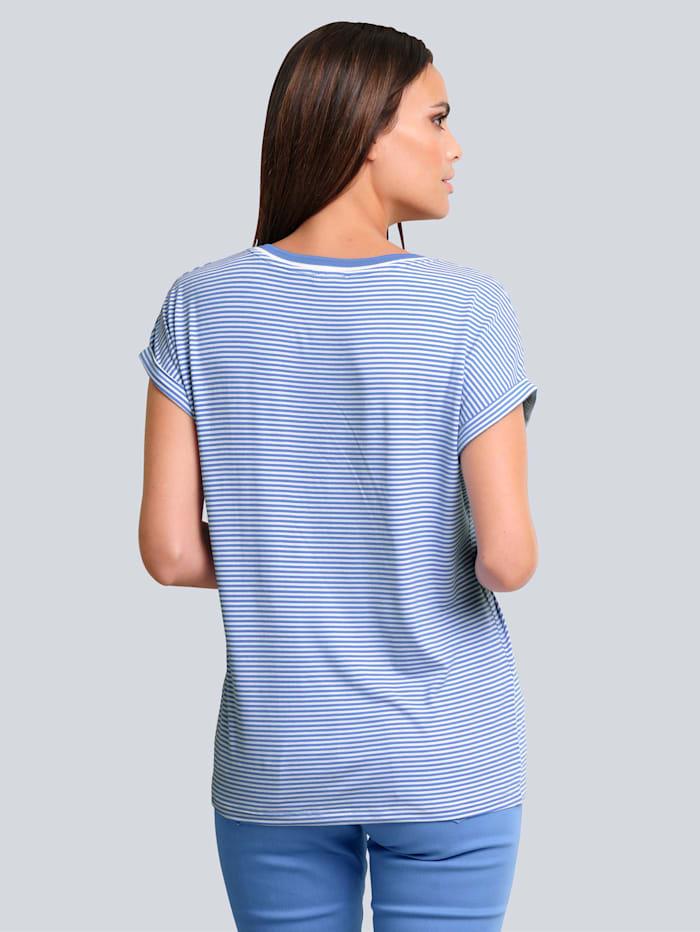 Shirt im exklusiven Alba Moda Druck