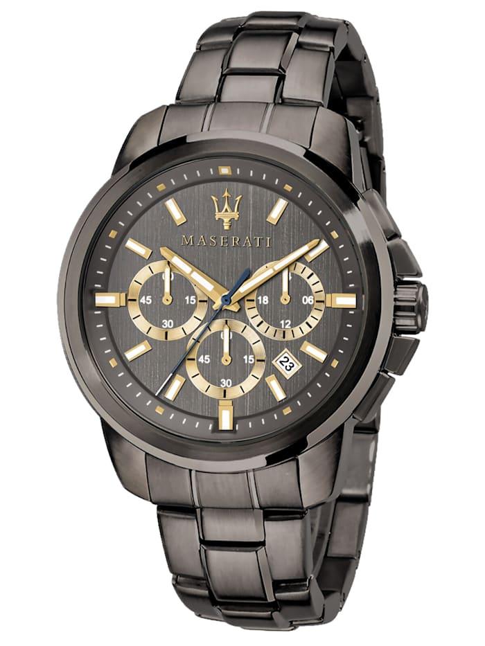 Maserati Herrenuhr Chronograph Successo grau/gold, Anthrazit