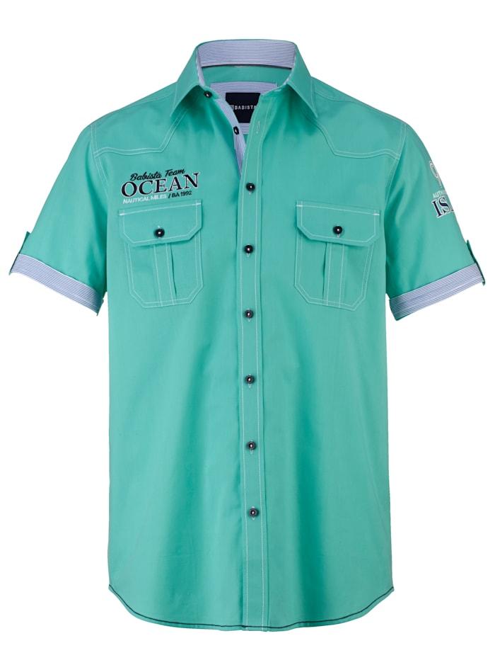 BABISTA Hemd aus reiner Baumwolle, Mintgrün