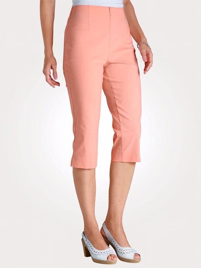 MONA 7/8-broek met katoen, Apricot