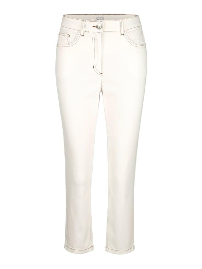7/8 Jeans mit kontrastigem Stiching