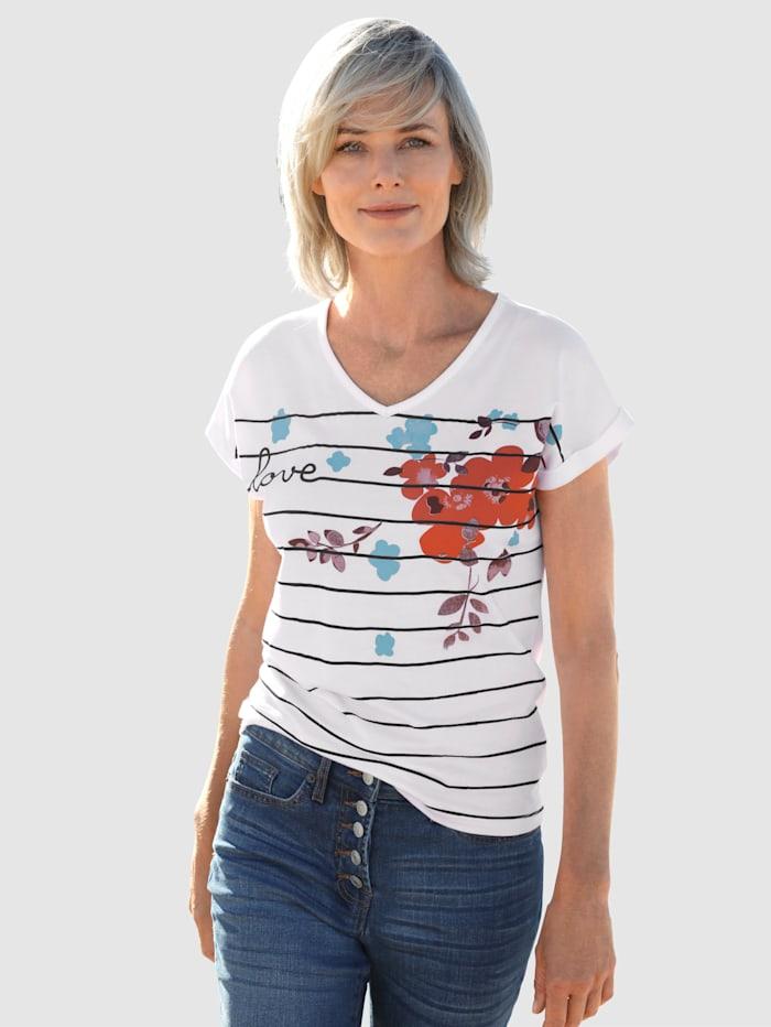 Dress In Puuvillainen printtipaita, Valkoinen