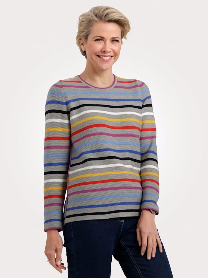 Rabe Pullover, Grau/Multicolor