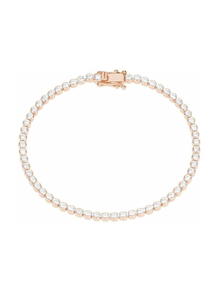 s.Oliver Armband für Damen, Sterling Silber 925, Zirkonia, Roségold