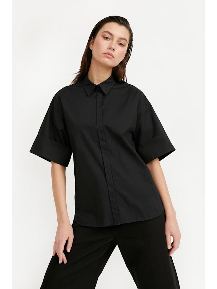 Bluse mit klassischem Hemdkragen