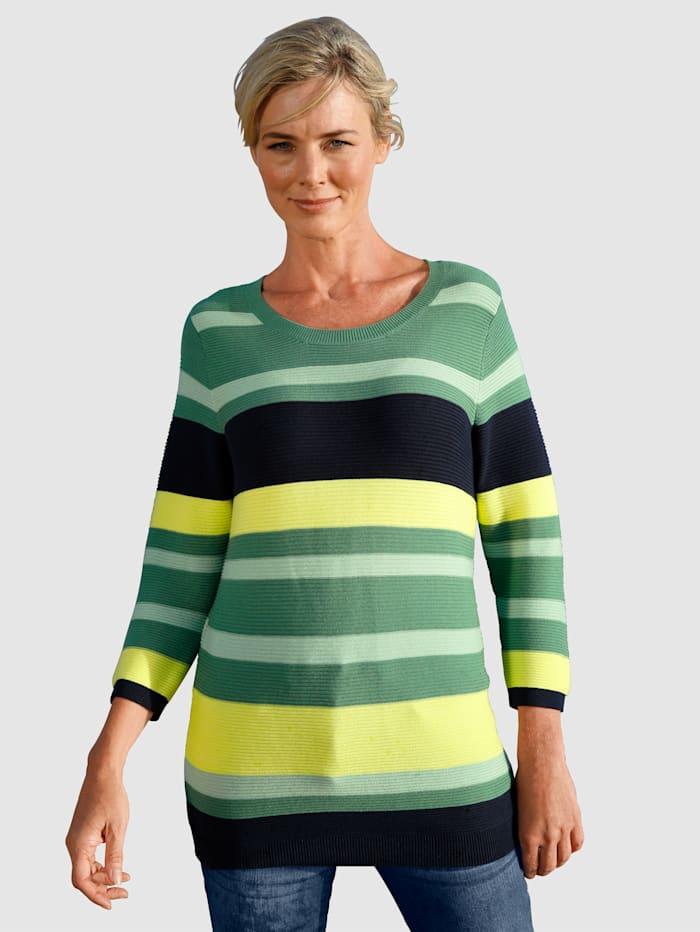 Dress In Pullover mit Rippstruktur, Salbeigrün