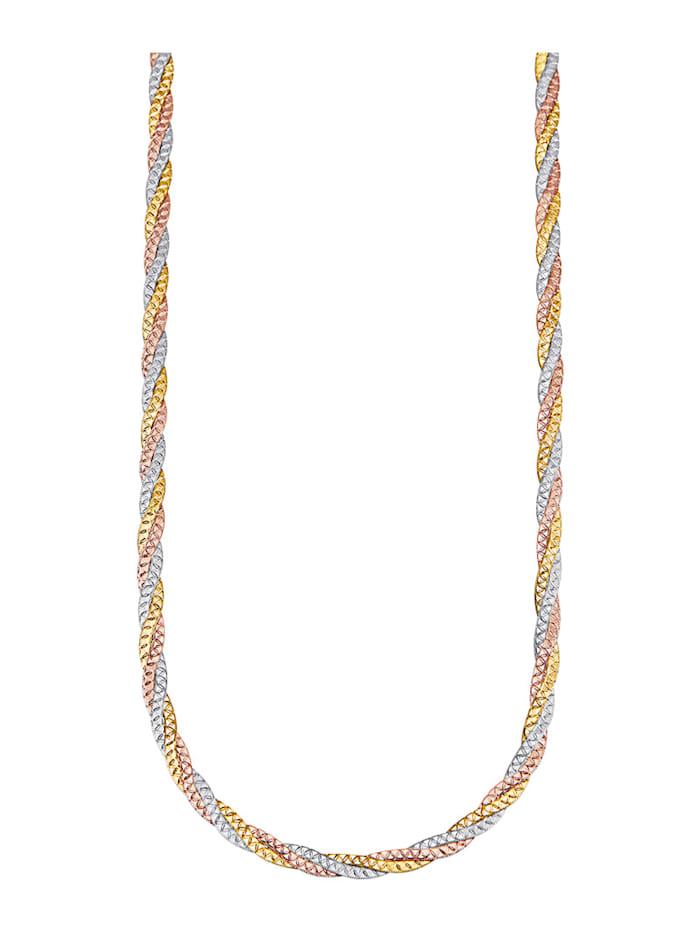 Diemer Gold 3rhg. Halskette in Gold 585, Multicolor