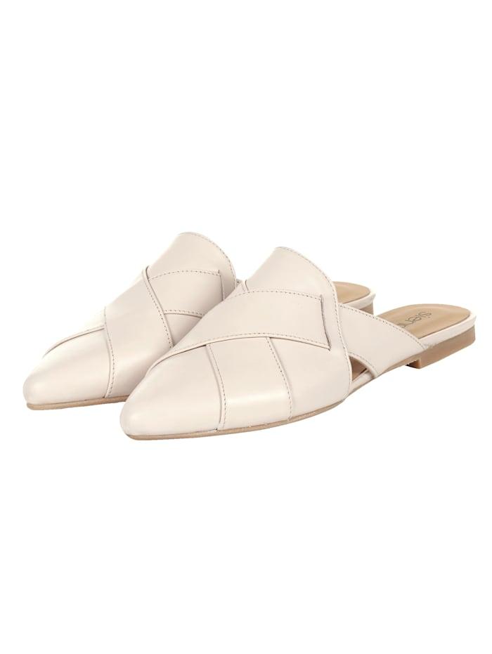 SIENNA Pantolette, Creme-Weiß