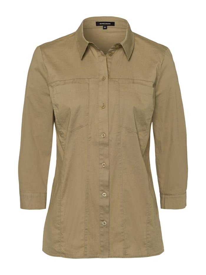 MORE & MORE Baumwoll-Hemd, khaki