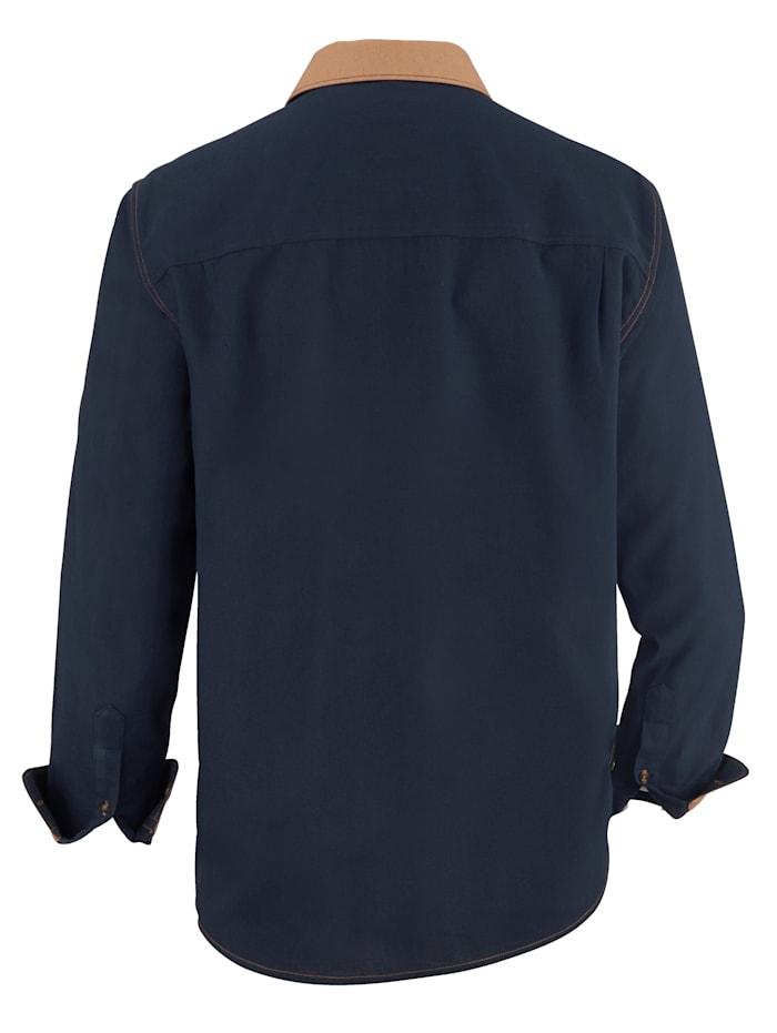 Hemd mit Kontraststeppung