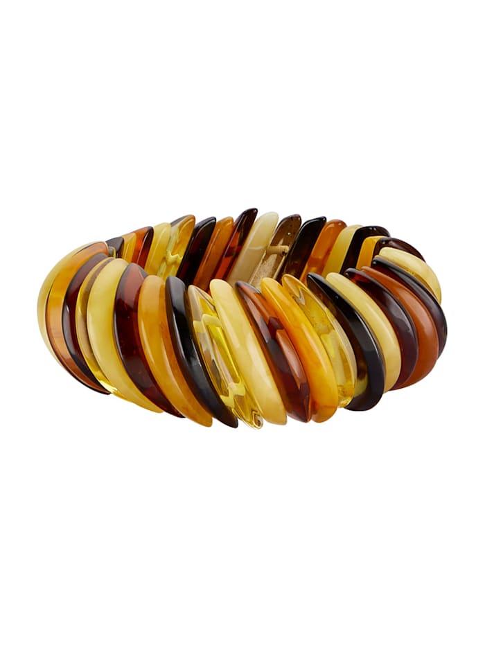 Armband aus Naturbernsteinen, Gelb