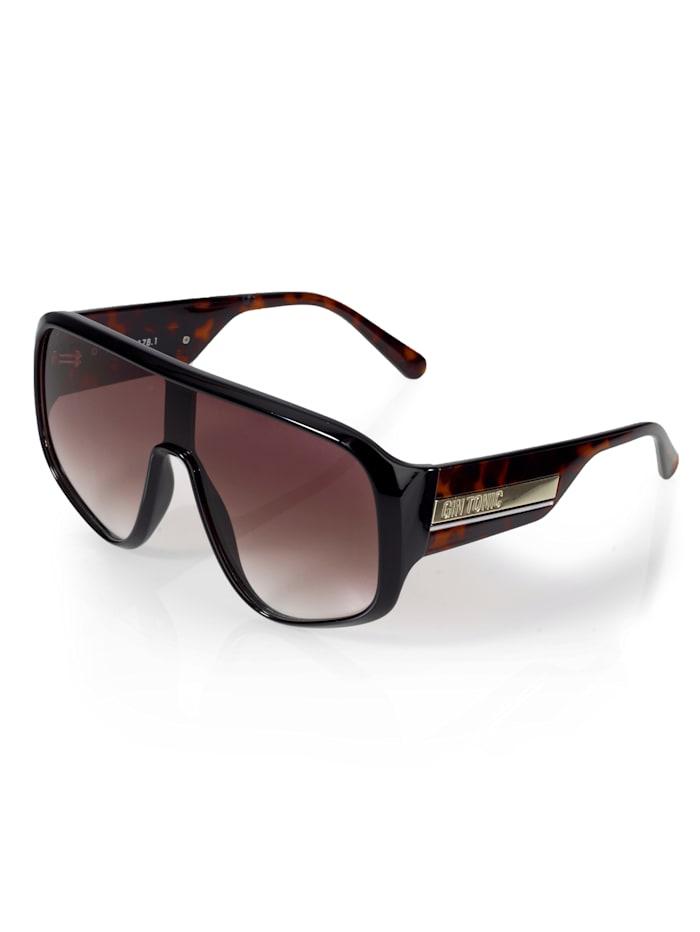 Alba Moda Sonnenbrille in extravaganter Form, Braun