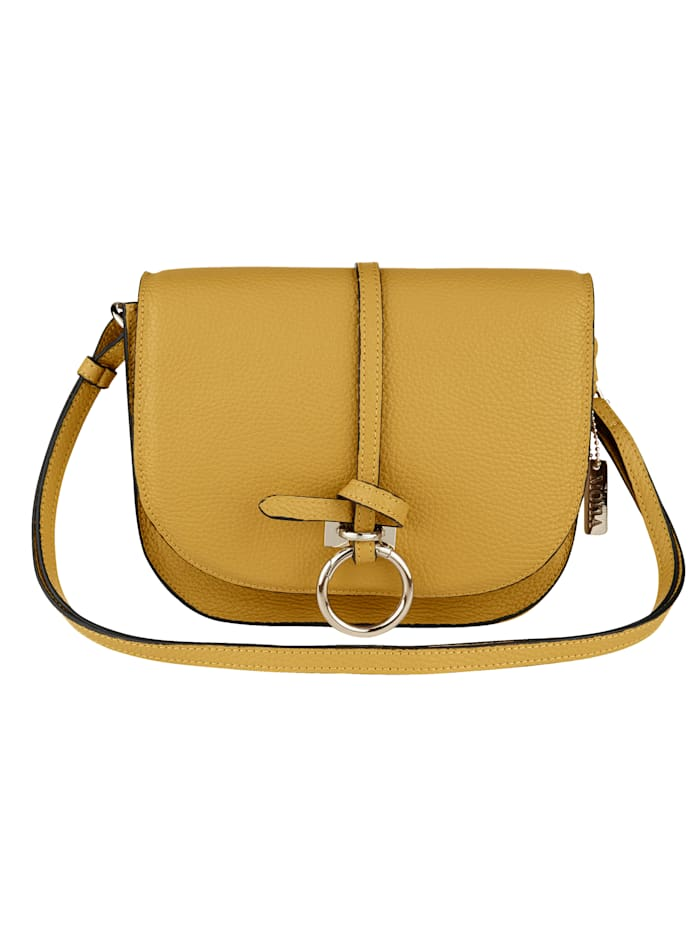 Shoulder bag with gold-tone embellishments