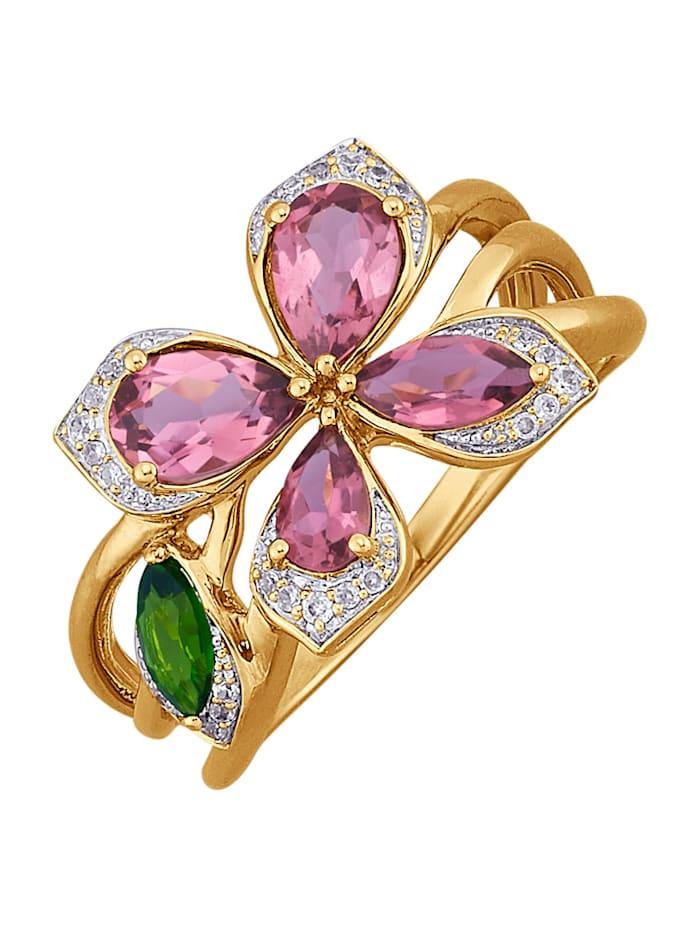 Gemondo Damenring mit Schmetterlingsmotiv, Rosé
