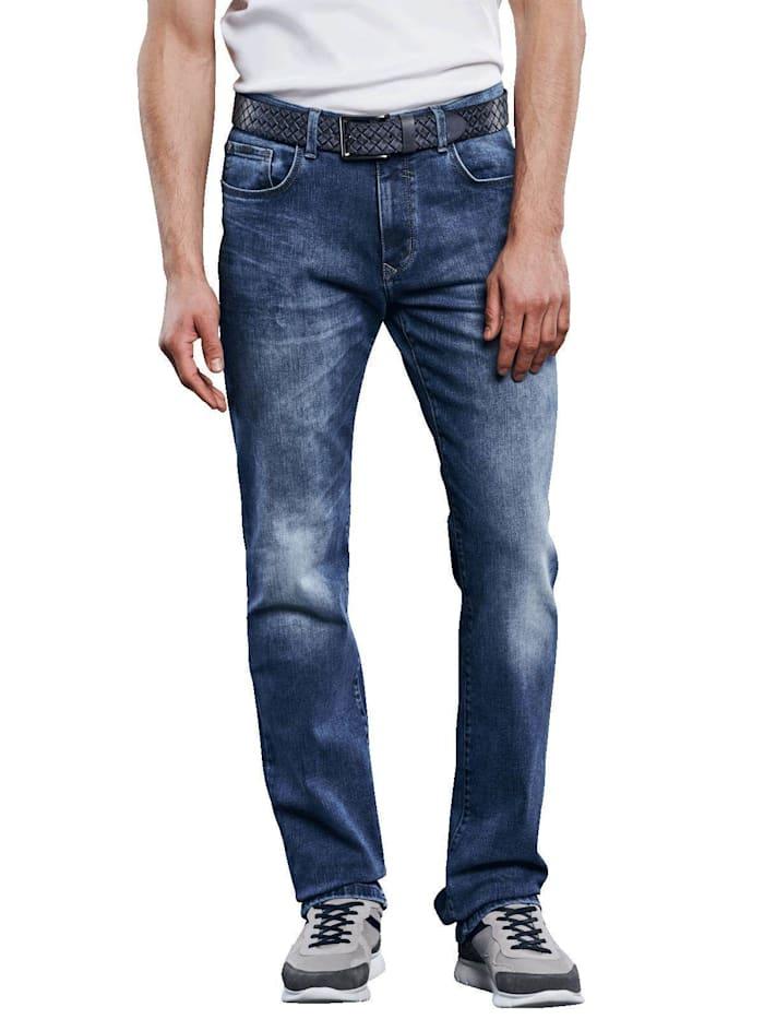Engbers Superstretch Jeans mit authentischer Waschung, Indigoblau