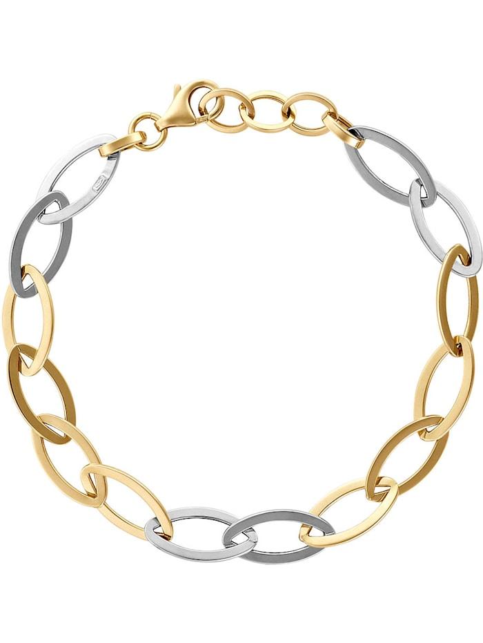 CHRIST Gold Damen-Armband 375er Gelbgold, 375er Weißgold