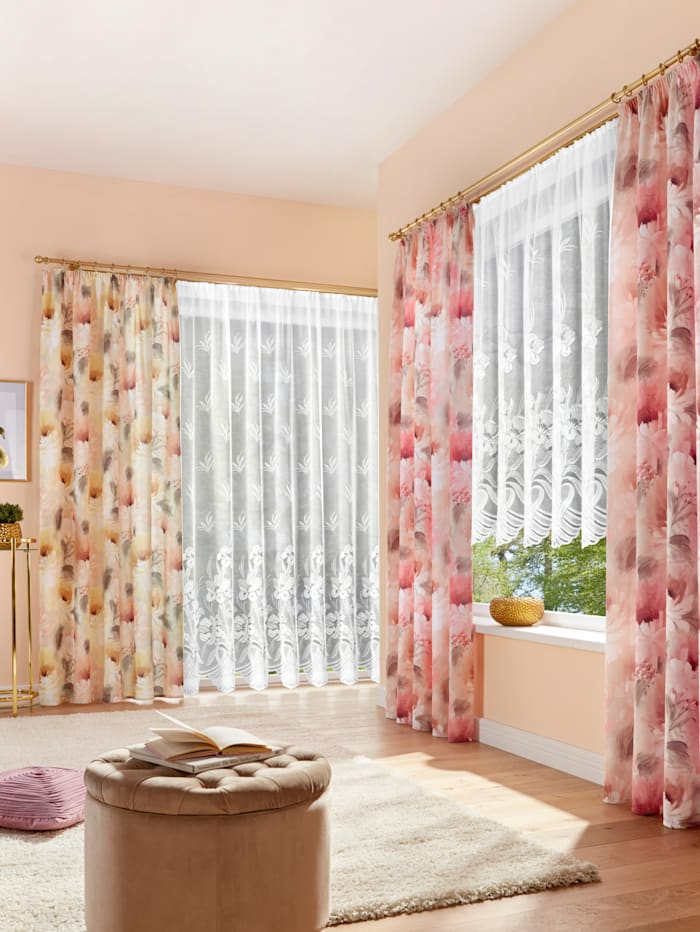 Home Wohnideen Dekoračná záclona Dalia, žltá