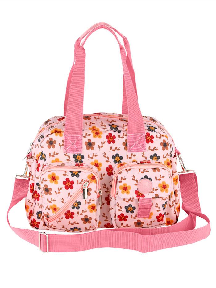 Aimée Handtasche mit wunderschönem Druck, rosé/floral