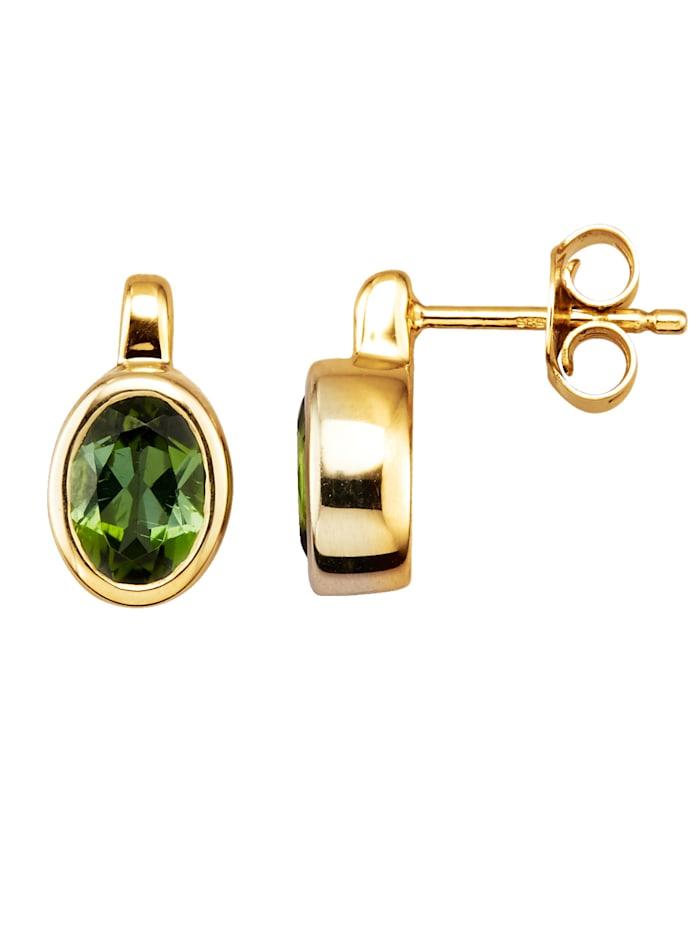 Diemer Farbstein Örhängen med grön turmalin, Grön