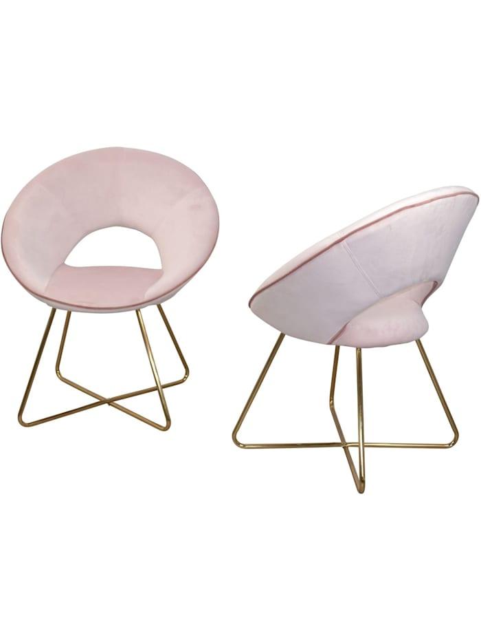 Möbel-Direkt-Online Samt-Polsterstuhl (2Stück) Nora, rosa