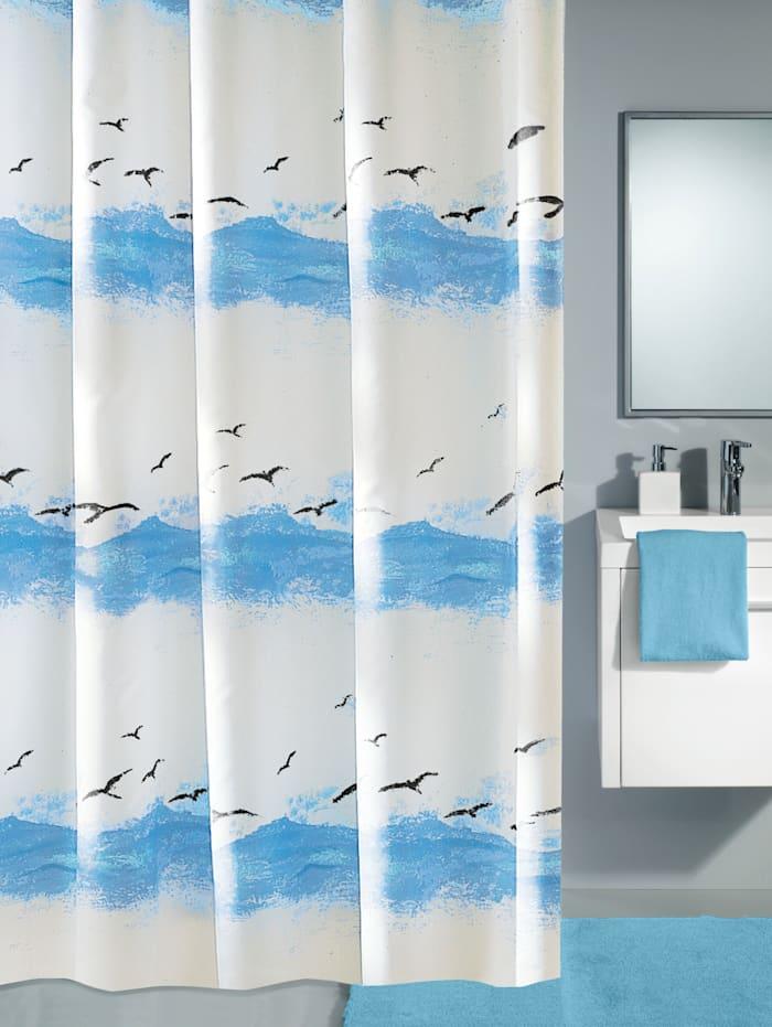 Kleine Wolke Duschdraperi, Himmel, blå/vit